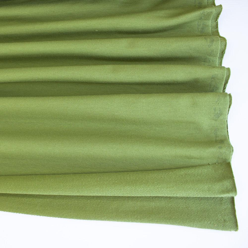 Avocado Premium Plain French Terry Fabric by Various