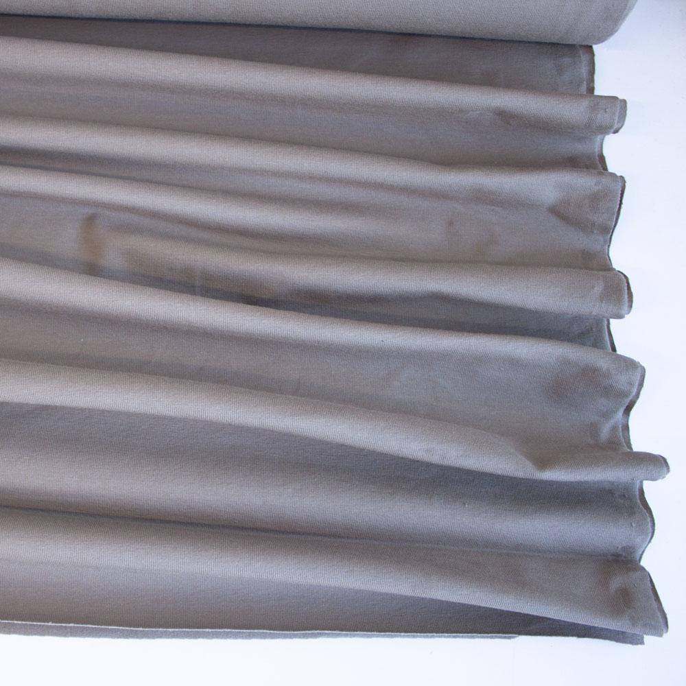 Beige Premium Plain Cotton/Spandex Jersey Fabric by Various