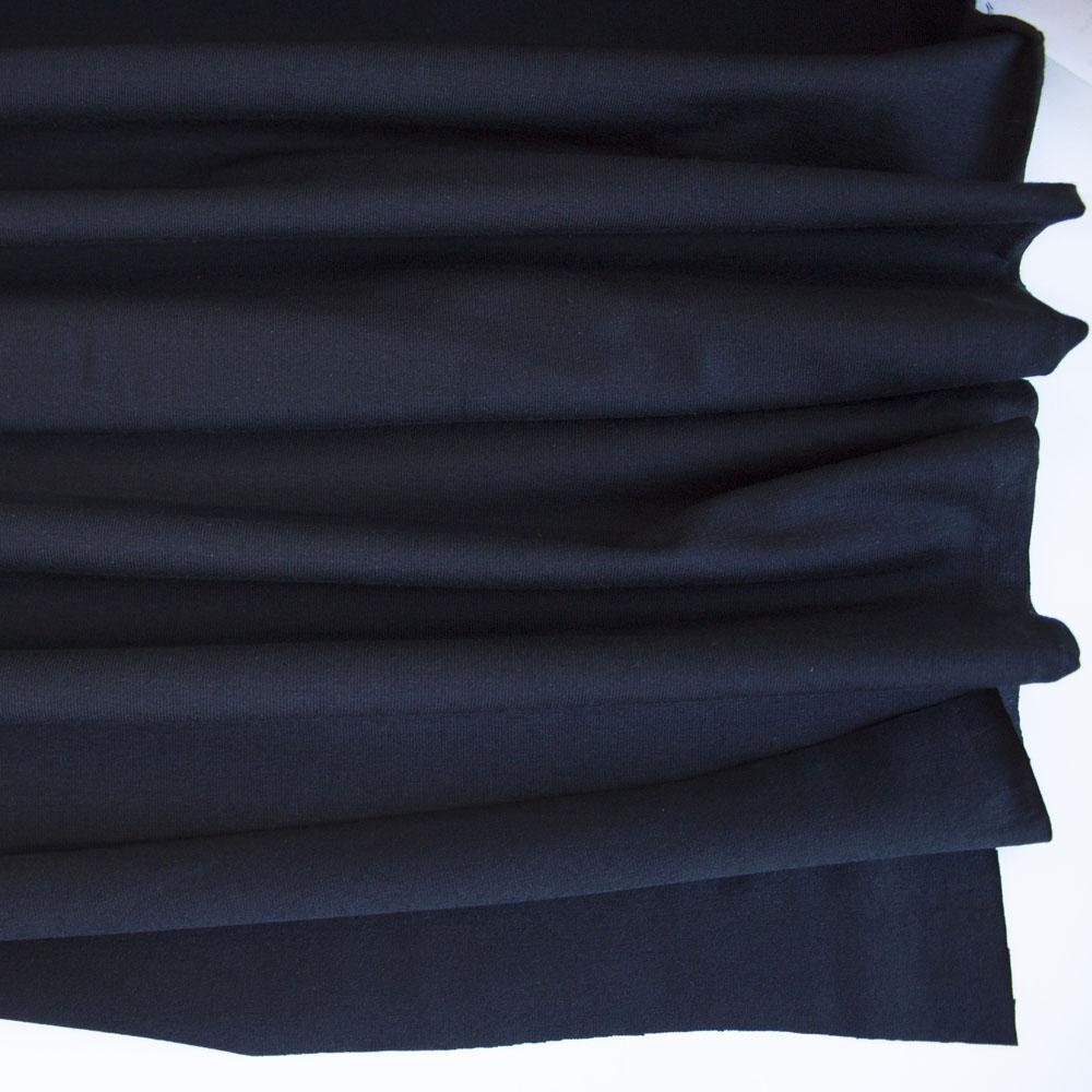 Black Premium Plain Cotton/Spandex Jersey - Frumble Fabrics