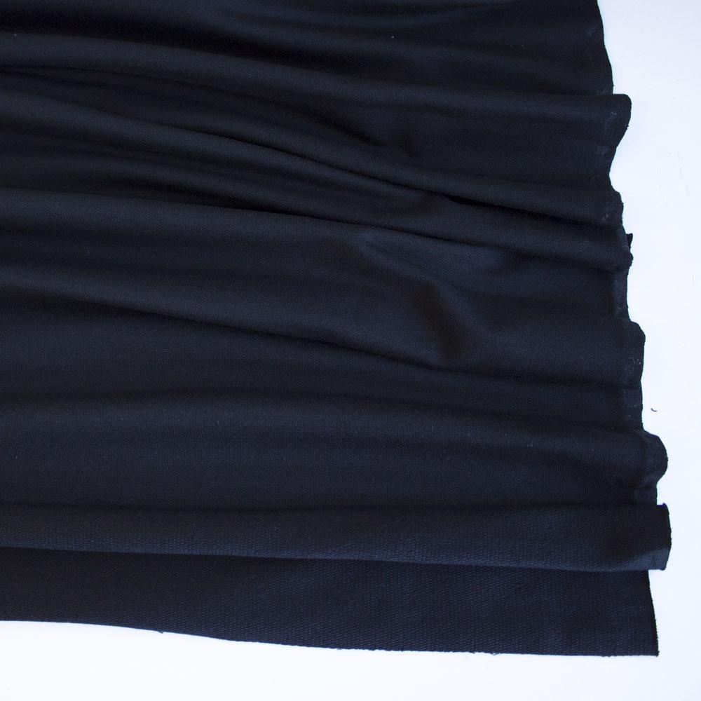 Black Premium Plain French Terry Fabric by Various