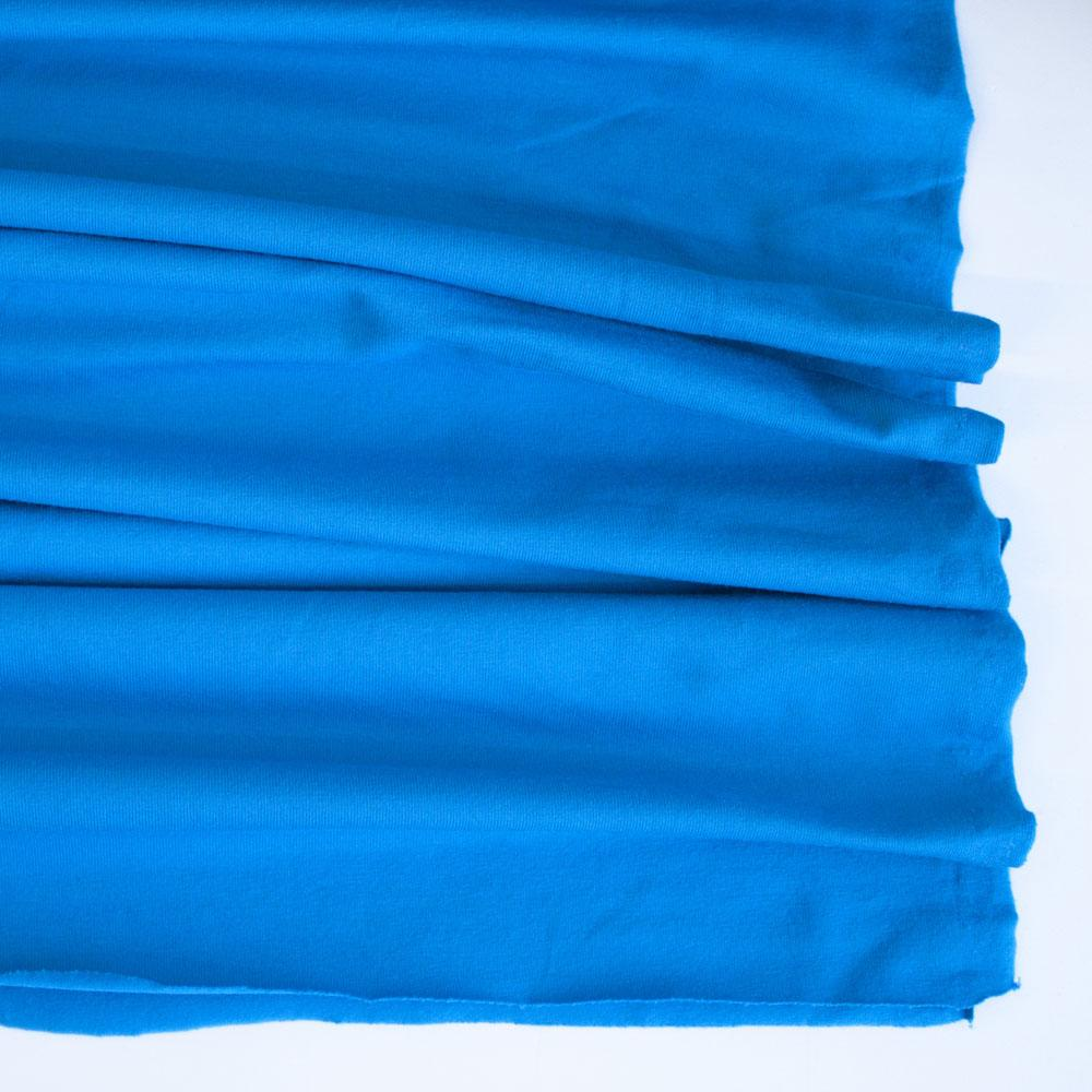 Bright Blue Premium Plain Cotton/Spandex Jersey Fabric by Various