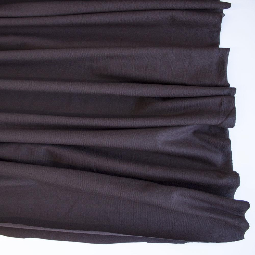 Brown Premium Plain Cotton/Spandex Jersey Fabric by Various