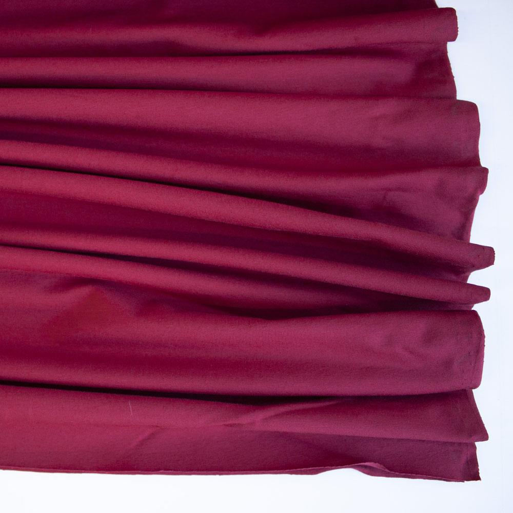 Burgundy Premium Plain Cotton/Spandex Jersey Fabric by Various