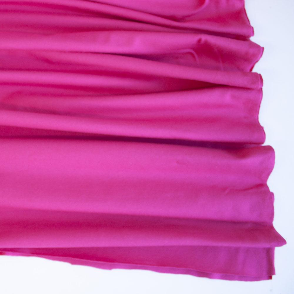 Cerise Premium Plain Cotton/Spandex Jersey Fabric by Various