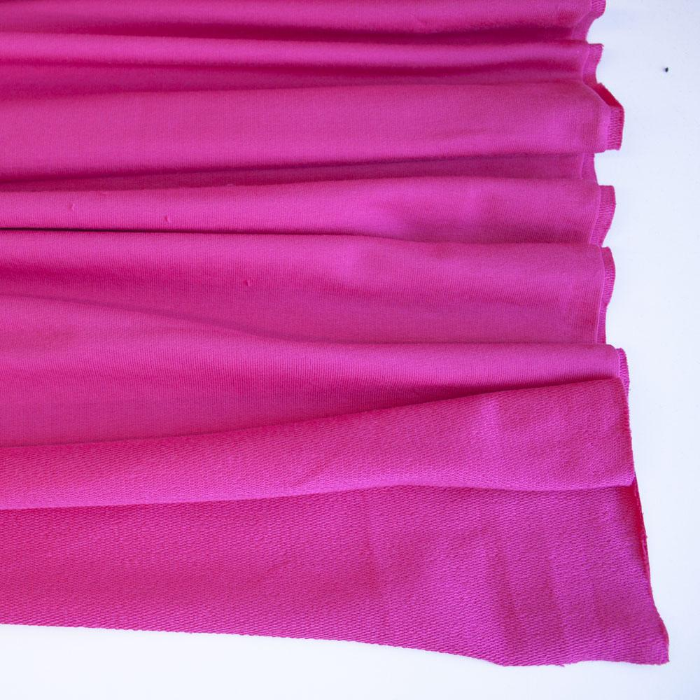 Cerise Premium Plain French Terry Fabric by Various