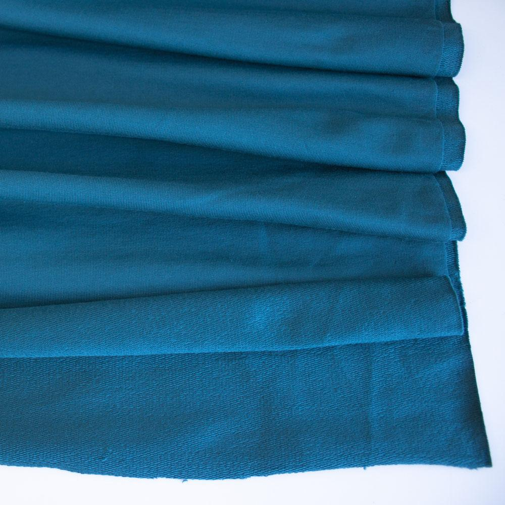 Dark Teal Premium Plain French Terry Fabric by Various