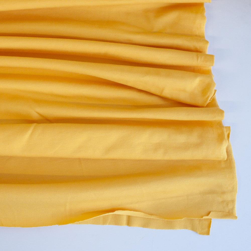 Duster Yellow Premium Plain Cotton/Spandex Jersey - Frumble Fabrics