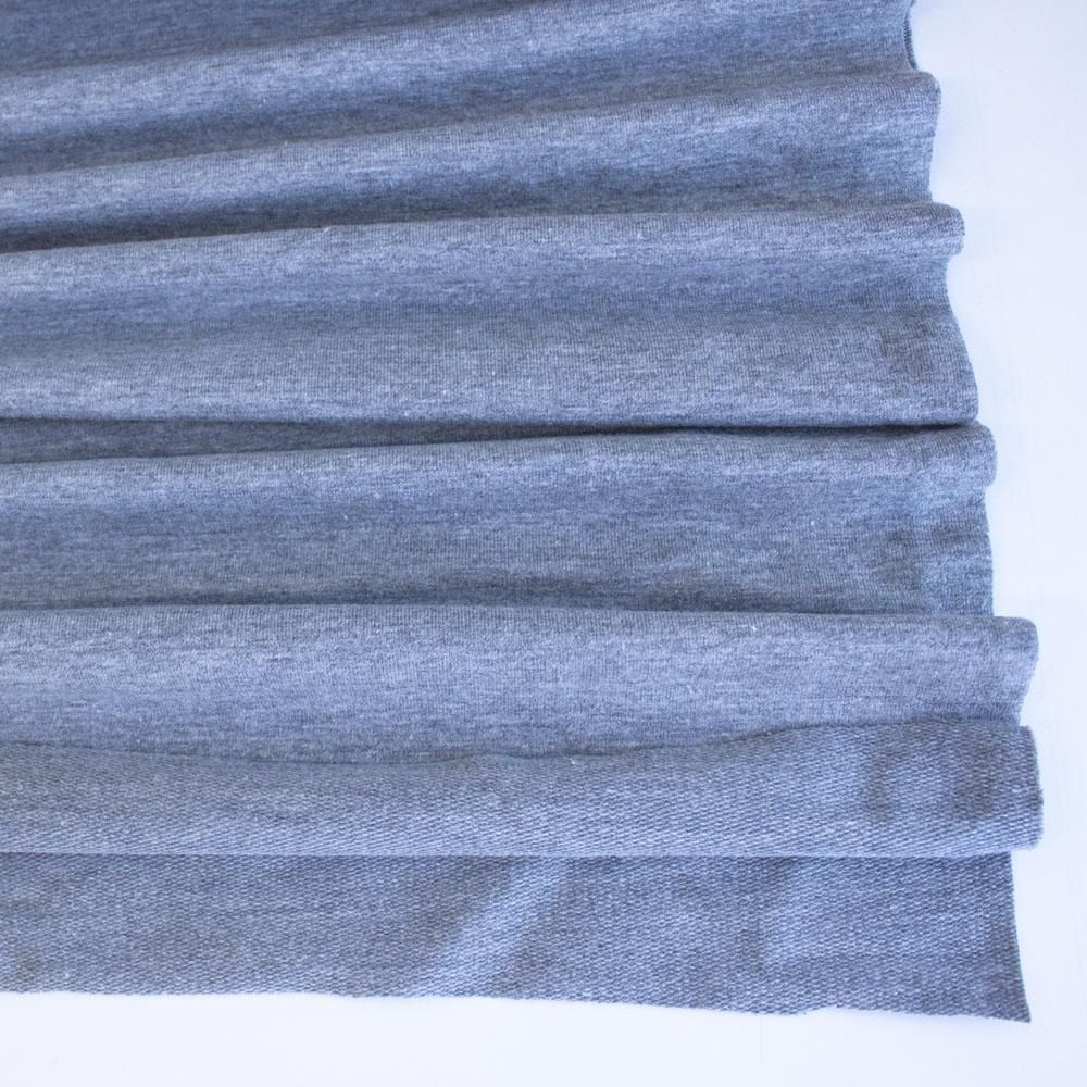 Light Grey Premium Plain French Terry Fabric by Various