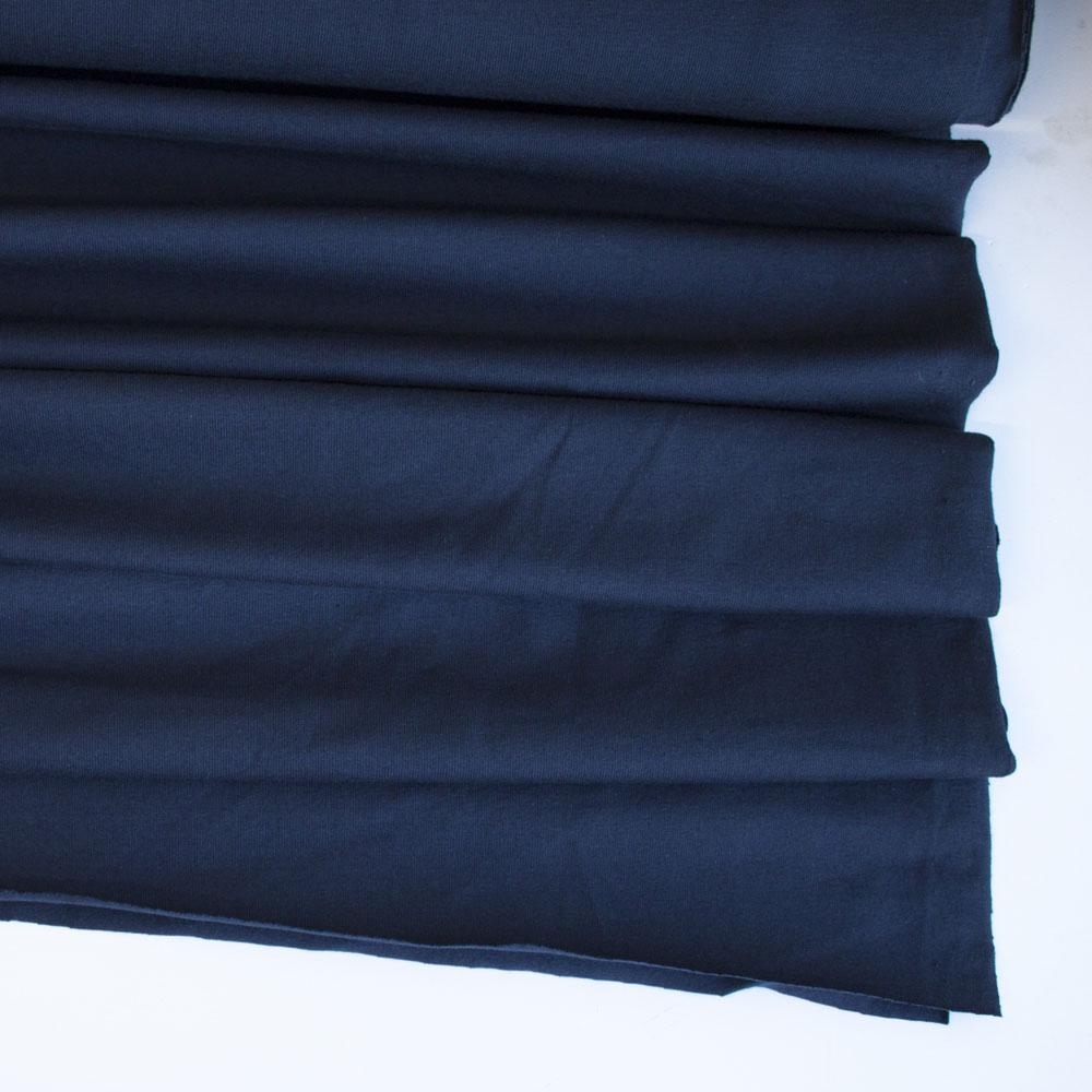 Navy Blue Premium Plain Cotton/Spandex Jersey - Frumble Fabrics