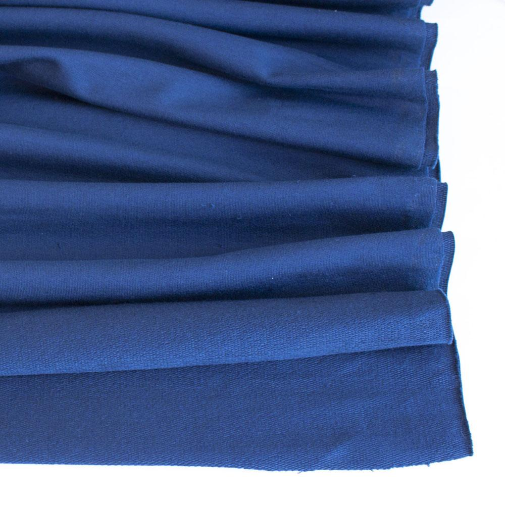 Navy Blue Premium Plain French Terry Fabric by Various