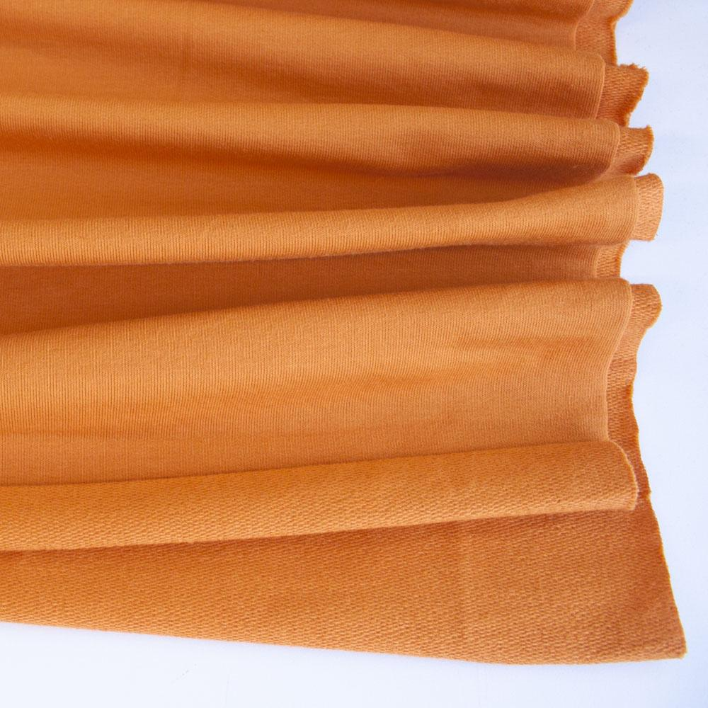 Orange Premium Plain French Terry Fabric by Various