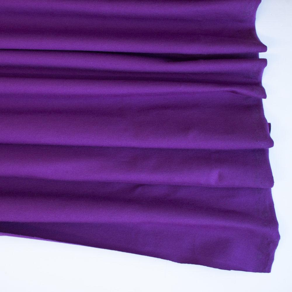 Purple Premium Plain Cotton/Spandex Jersey Fabric by Various