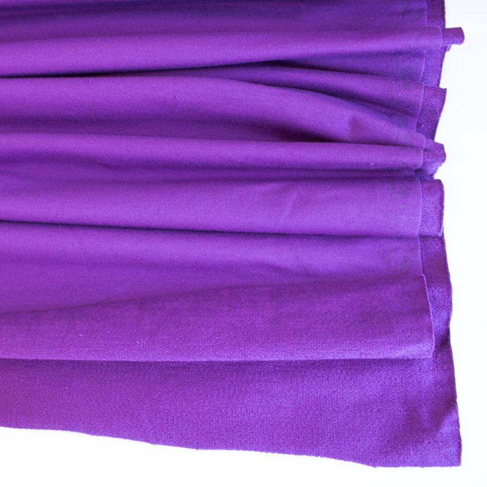 Purple Premium Plain French Terry - Frumble Fabrics