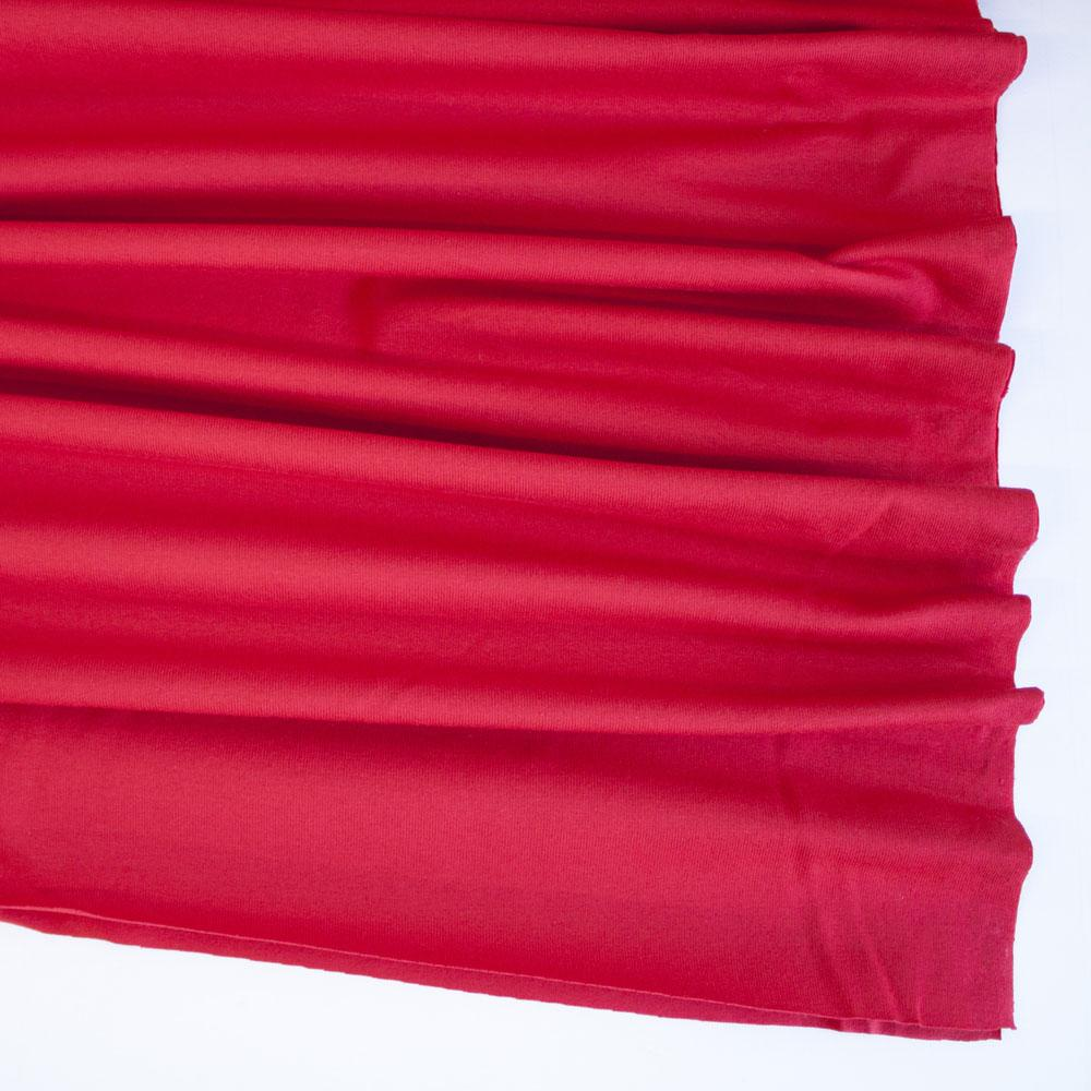Red Premium Plain Cotton/Spandex Jersey Fabric by Various