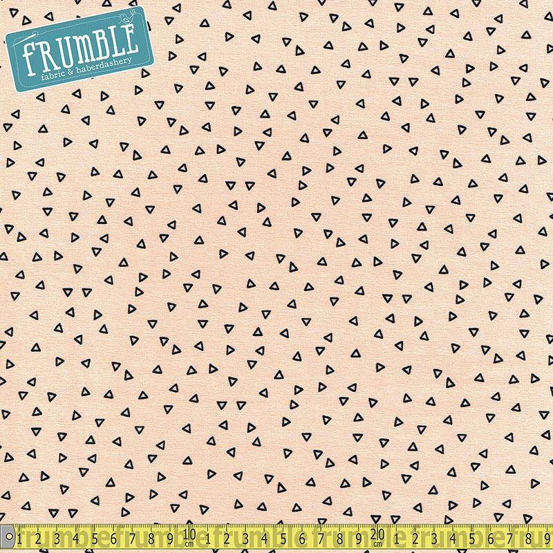 Scattered Mini Triangles Pink Jersey Print - Frumble Fabrics