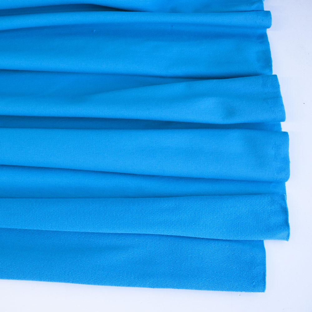 Turquoise Premium Plain French Terry Fabric by Various