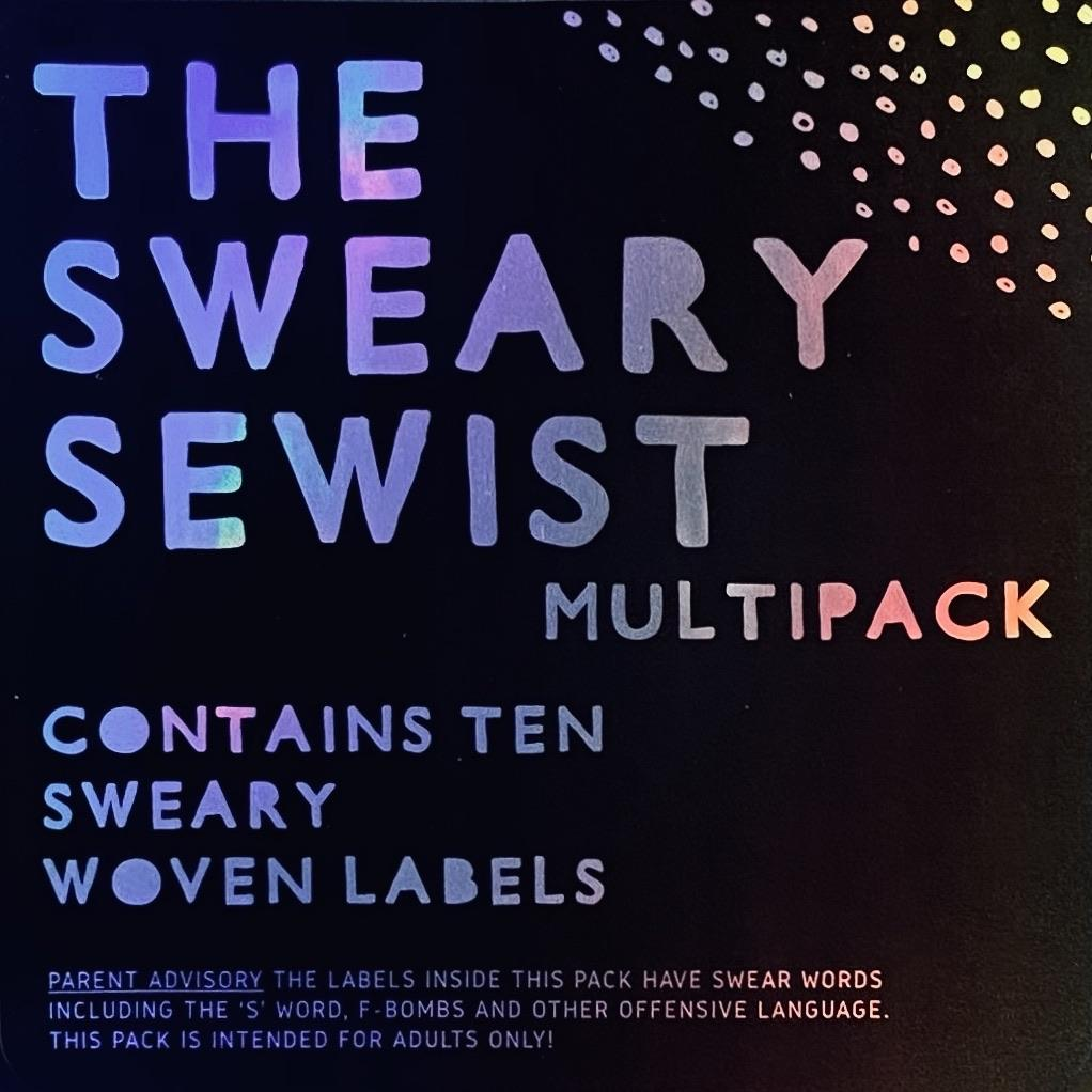 "KATM - Kylie And The Machine Labels - ""THE SWEARY SEWIST"" LIMITED EDITION MULTI PACK - Pack of 10 Labels"