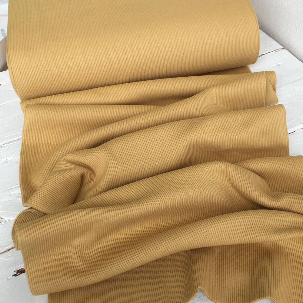 Ribbing Mustard Fabric by Various