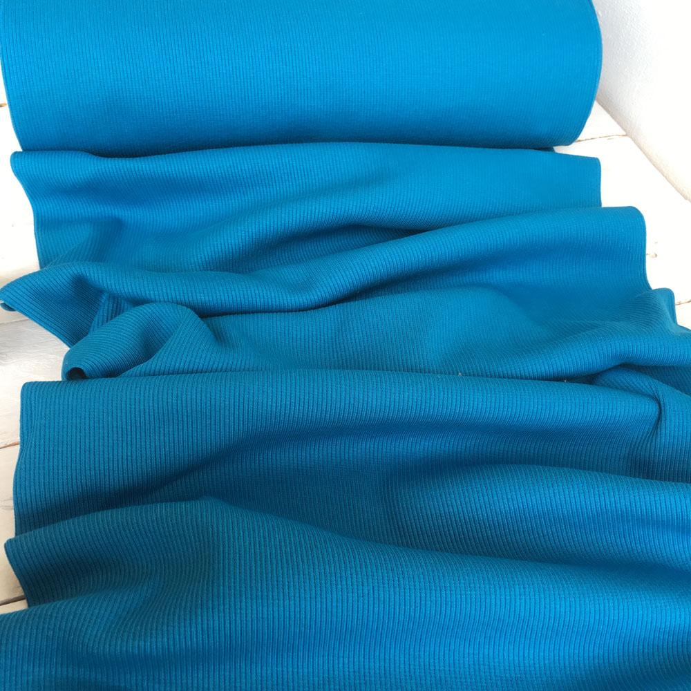 Ribbing Turquoise Fabric by Various