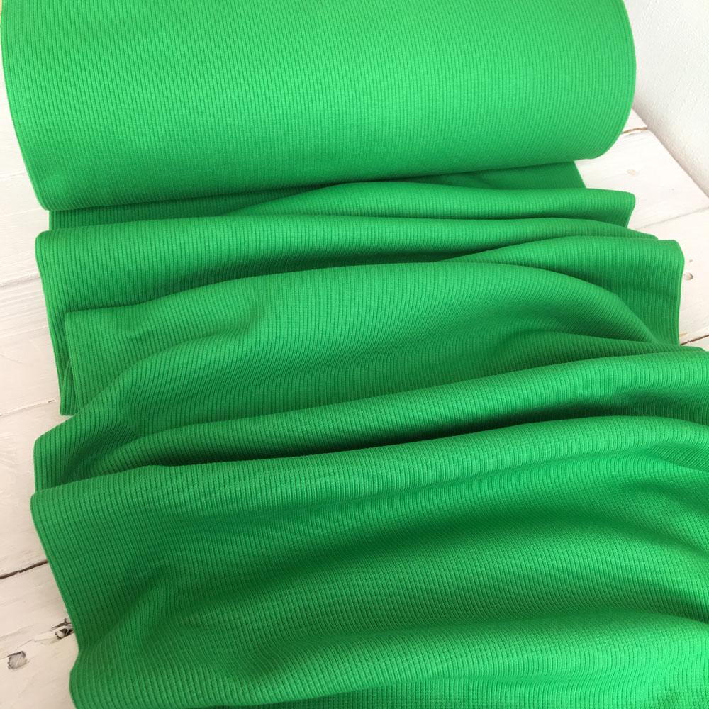 Ribbing Emerald Green Fabric by Various