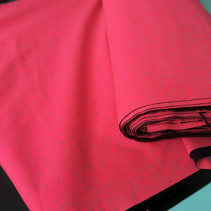 Reflective Sport Neon Pink Softshell Fabric by Various