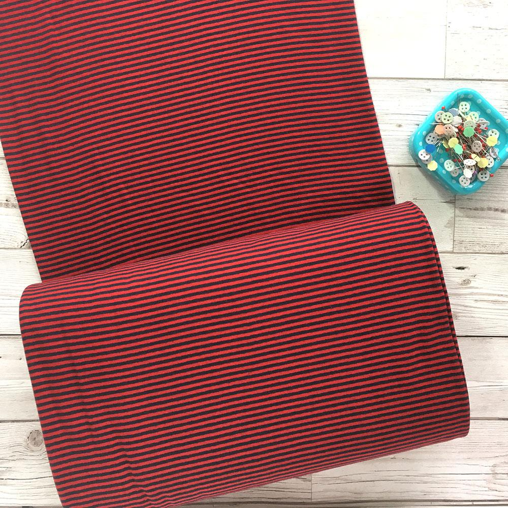 Ahoy Stripe Cotton Ribbing Tube - Frumble Fabrics