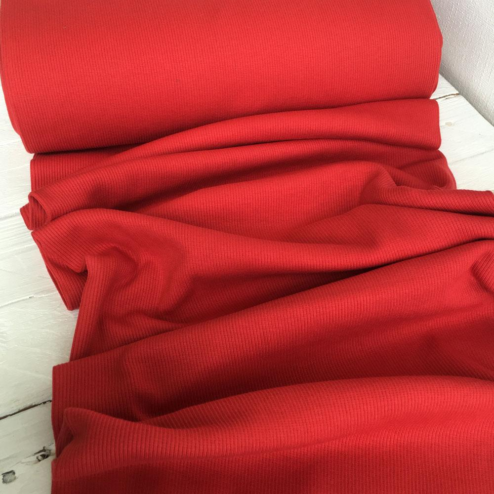 Ribbing Red Fabric by Various