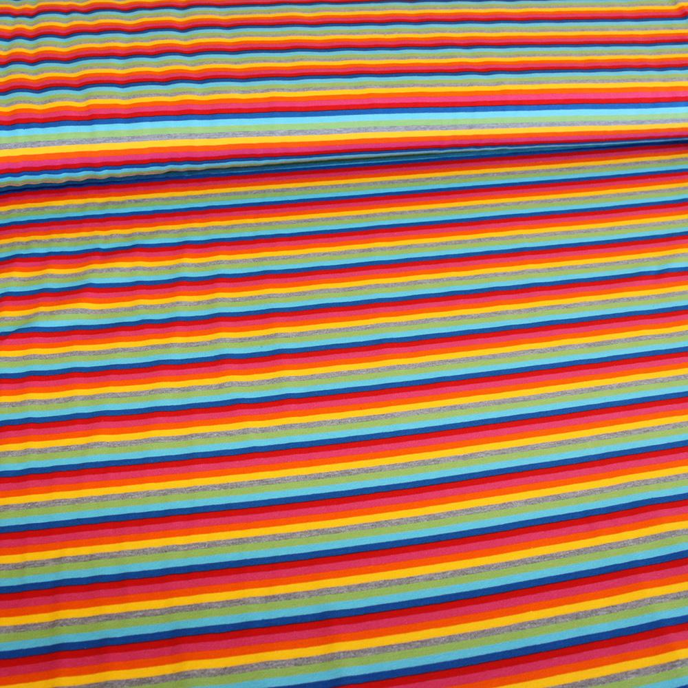 Rainbow Stripes Jersey - Frumble Fabrics