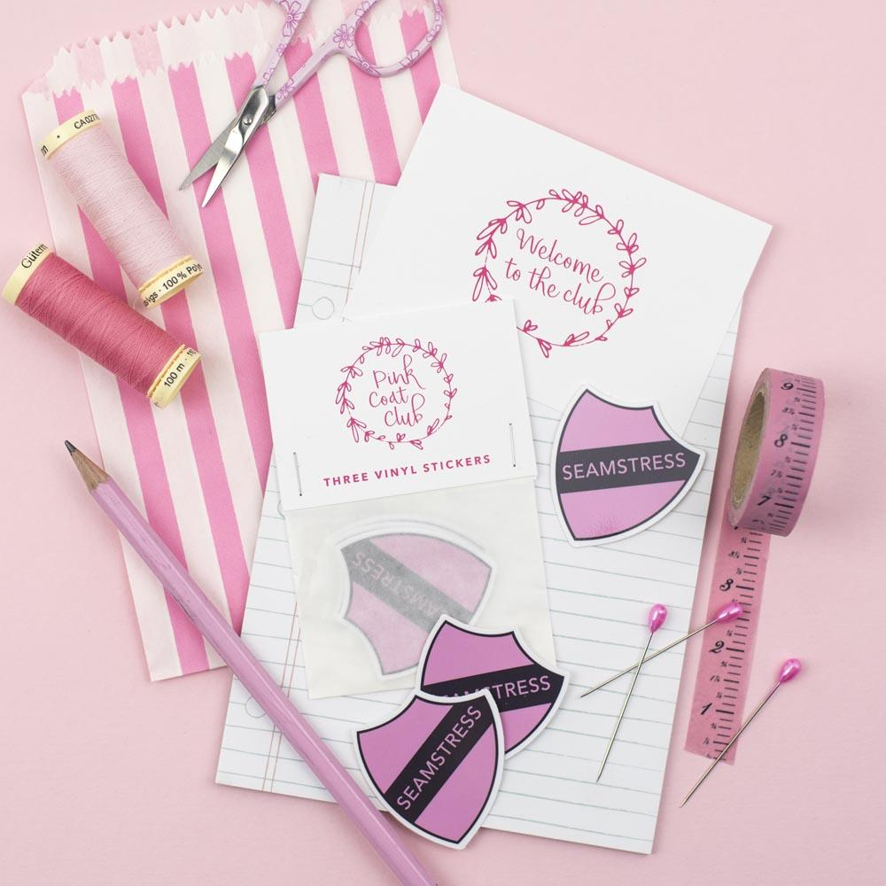 Seamstress Stickers (Pink) by Pink Coat Club