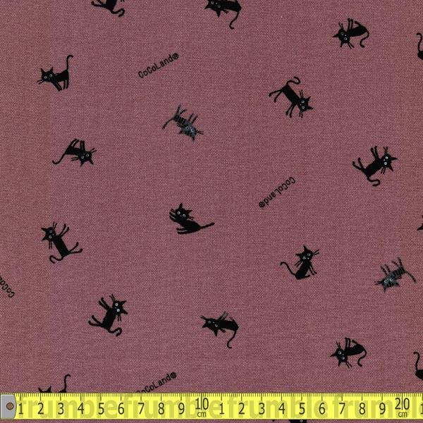 Cocoland Mini All Over Coco Cat Mauve Fabric by Japanese
