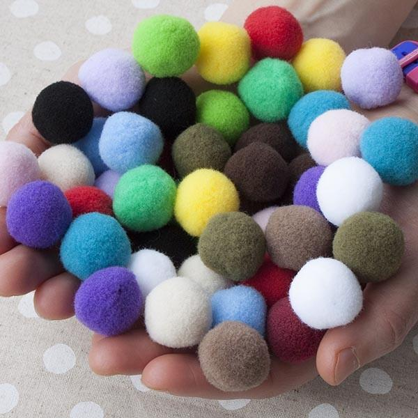 Jumbo Pom Pom Ball 100 Pack Rainbow Pack