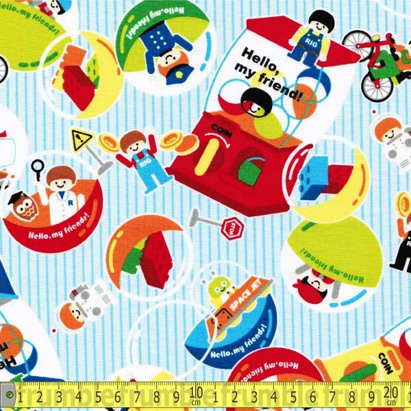 Hello My Friend Building Blocks Fabric by Japanese