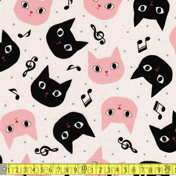 Disco Cat Natural - Frumble Fabrics