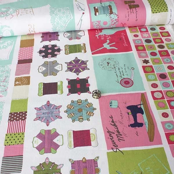 Trefle Sewing Room Border Fabric by Japanese