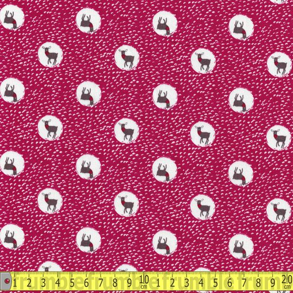 Trefle Spotty Deer Pink Cotton Sateen - Frumble Fabrics