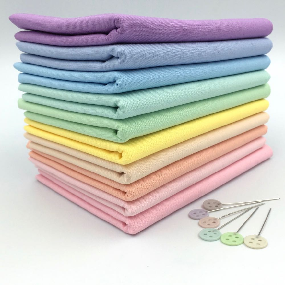 Rainbow Pastel Kona FQ Bundle