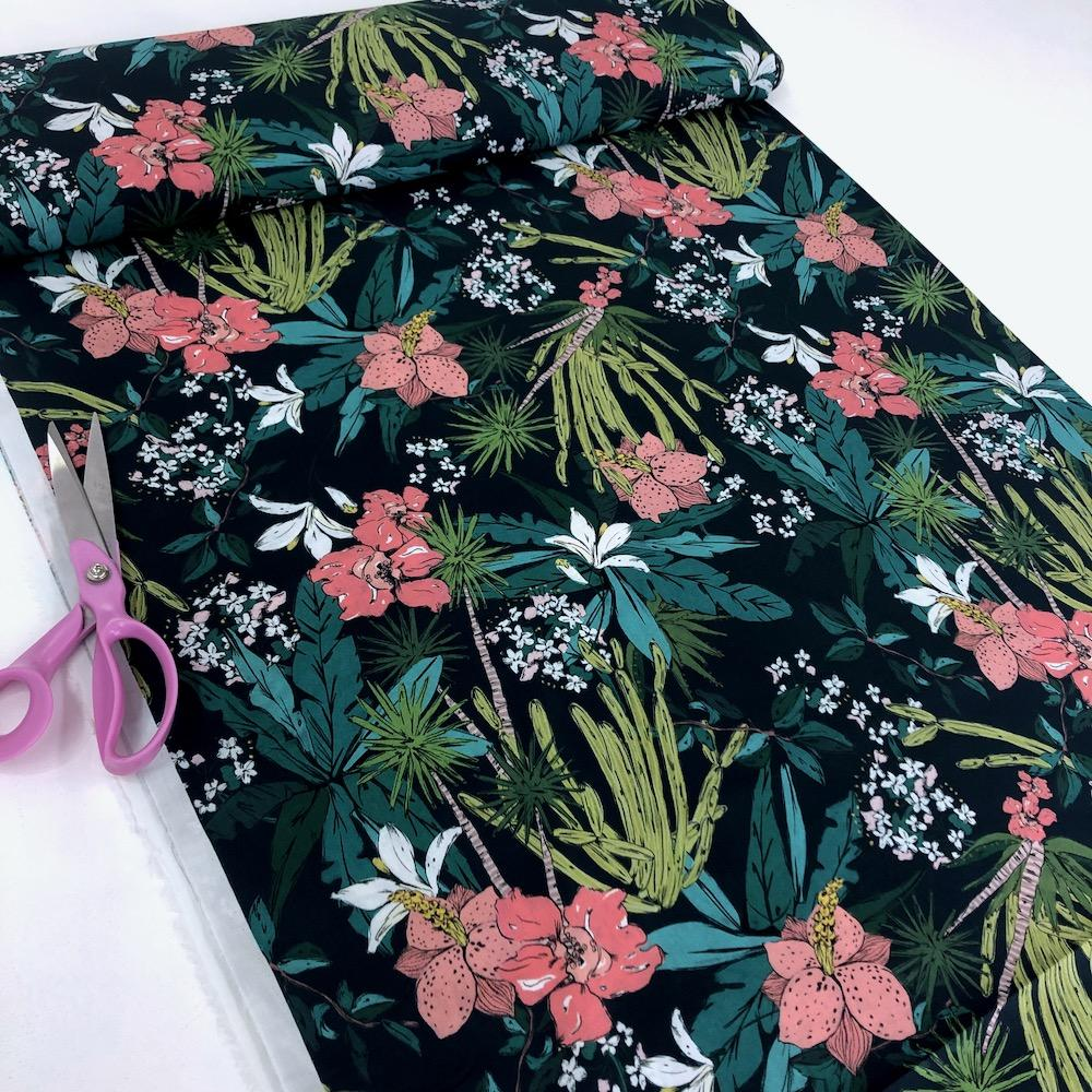 Lady McElroy - Cotton Lawn Fabric - Floridian Narciso Dressmaking Fabric