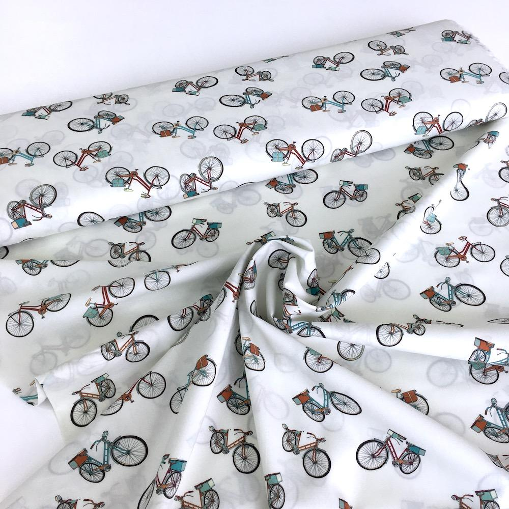 London Commute Cotton Lawn Fabric White Fabric by Lady McElroy