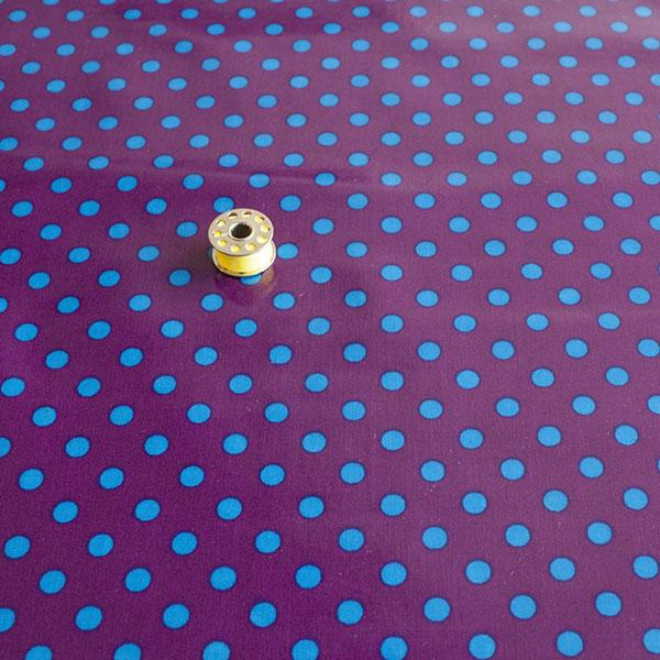 Laminated Fabric - Purple Dot Fabric by Various