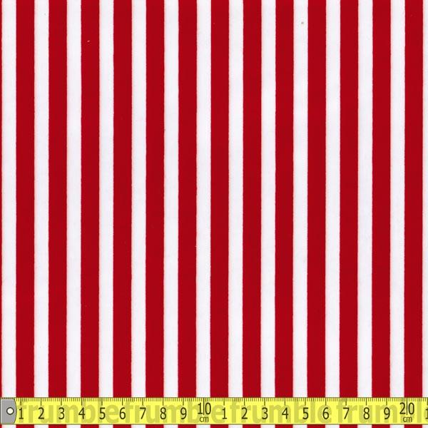 Laminated Fabric - Red Stripe - Frumble Fabrics