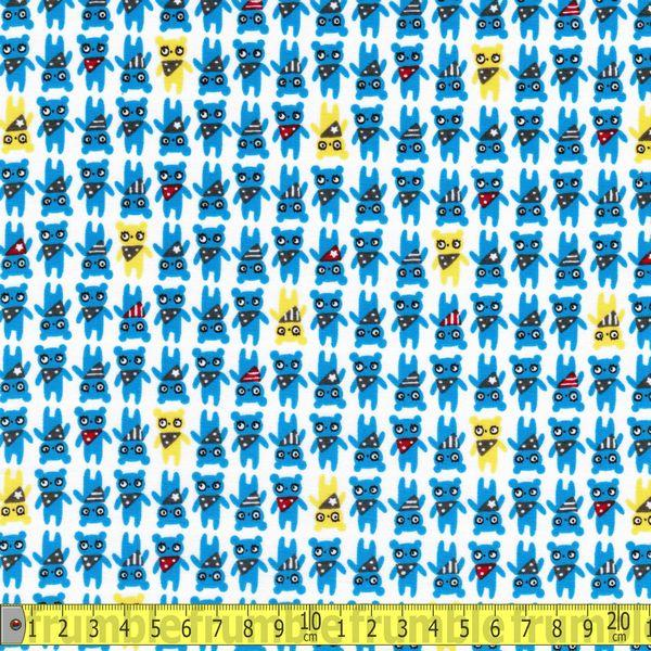 TP Collection Bears Blue Fabric by Lecien