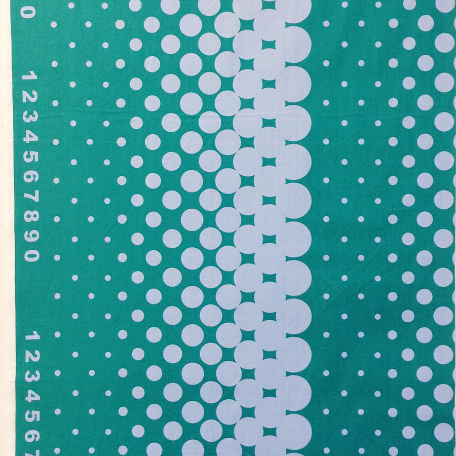 First Of Infinity Border Dot Teal - Frumble Fabrics