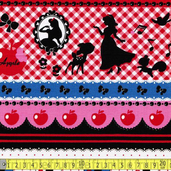 Girl Story Snow White Stripe Red Fabric by Lecien