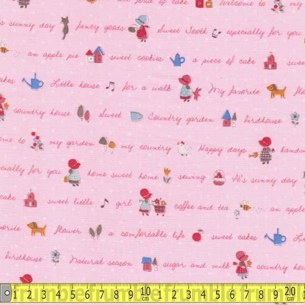 Little Heroines Holly Hobby Pink Fabric by Lecien