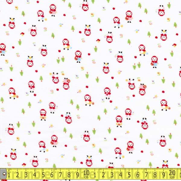 Minny Muu Cat Little Red Riding Hood Cream - Frumble Fabrics