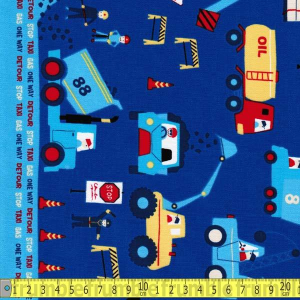 Nico Nico Land Transport Toy Border Fabric by Lecien