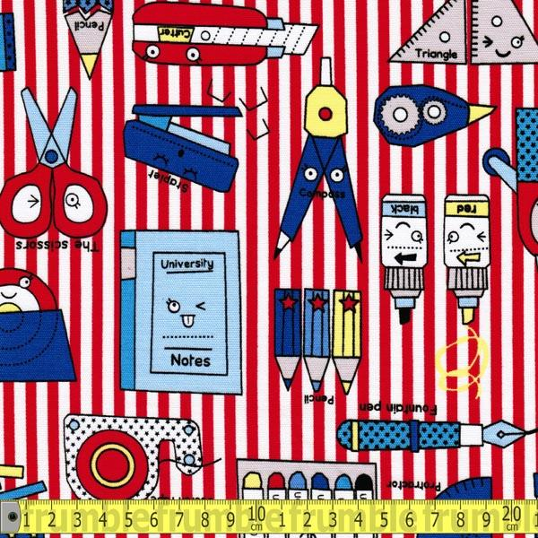 Pop N Kids School Red - Frumble Fabrics