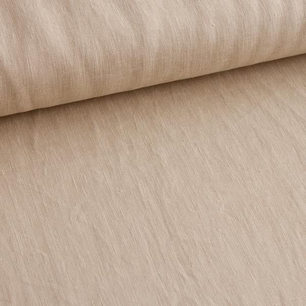 Beige 100% Linen Cloth Fabric by Various