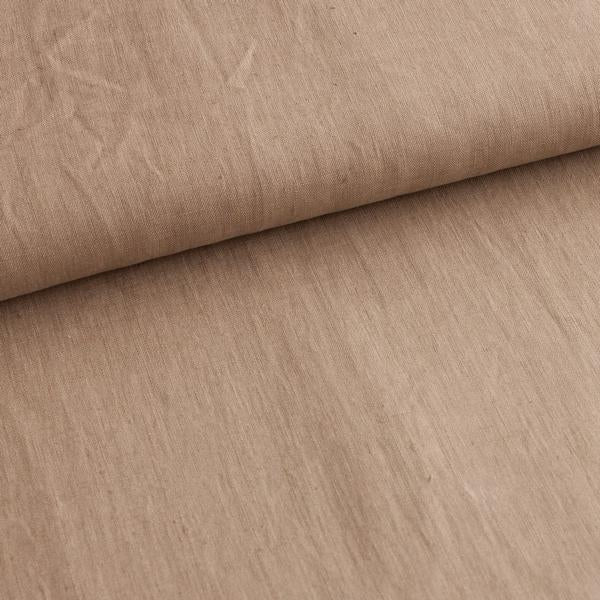 Taupe Brown 100% Linen Cloth Fabric by Various