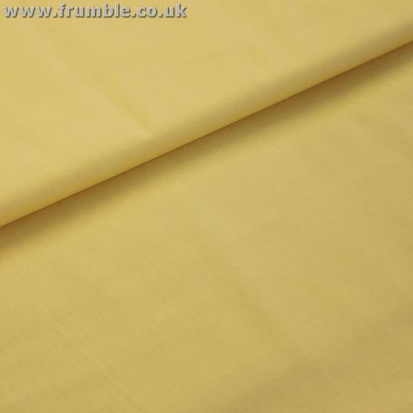 Wide 54 Plain Cotton Klona (Per Metre) Maize Fabric by Various